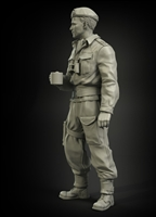 PanzerArt British RAC officer North Africa/Italy, resin, 1/35