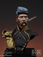 2nd Missouri Cavalry, Merrill's Horse, 1863, 1/16 scale bust.
