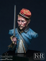 146th New York Zouaves Officer, 1863, 1/16 scale bust. Resin
