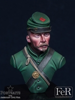1st United States Sharpshooters, 1864, 1/16 scale bust. Resin