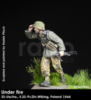 RADO MIniatures, Waffen SS NCO , 5.SS-Pz.Div., Poland 1944, Under Fire series, 1/35 scale resin figure.
