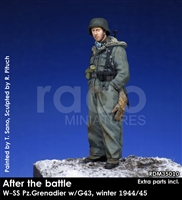 RADO MIniatures, Waffen SS Panzergrenadier w/G43, 1944/45, After the Battle series, 1/35 scale resin figure.