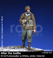 RADO MIniatures, Waffen SS Panzergrenadier w/StG44, 1944/45, After the Battle series, 1/35 scale resin figure.