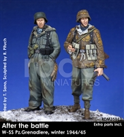 RADO MIniatures, Waffen SS Panzergrenadier 2 Figure set, 1944/45, After the Battle series, 1/35 scale resin figures.