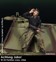 RADO MIniatures, Waffen SS NCO with MP40, 1944, Achtung Jabo! series, 1/35 scale resin figure.