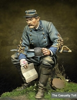 Casualty Toll - Confederate Cavalry Officer 75mm