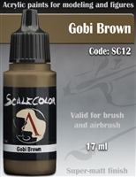 Scale Color SC-12 Gobi Brown 17ml bottle. Acrylic Paint.