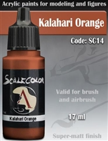Scale Color SC-14 Kalahari Orange 17ml bottle. Acrylic Paint.
