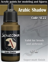 Scale Color SC-22 Arabic Shadow 17ml bottle. Acrylic Paint.