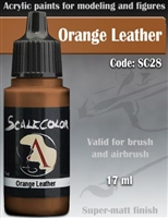 Scale Color SC-28 Orange Leather 17ml bottle. Acrylic Paint.