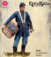 US 14TH INFANTRY REGIMENT Drummer, 75mm Resin Kit