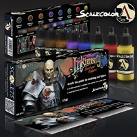 Scale 75 Acrylic Ink Set #1, 8 bottles of basic ink colors for adding depth and filters