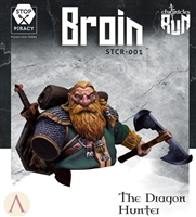 BROIN, THE DRAGON HUNTER, Fantasy Bust, 1/12 Scale Resin Kit