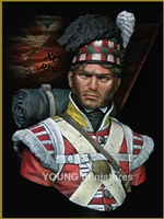 The 92nd Gordon Highlanders Waterloo 1815, 1/9 scale bust