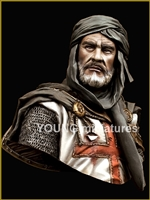 YH1827 - TEMPLAR KNIGHT IN JERUSALEM , 1/9 scale bust