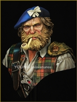 Highland Clansman, 1/10 Scale Resin Bust