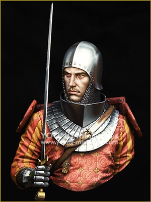 YH1853 - MEDIEVAL KNIGHT 14th Century, 1/9 scale bust