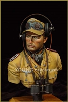 YM1802 - DAK Panzer Officer, 1/9 scale bust