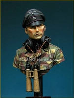 SS Panzer Officer Normandie 1944, 1/9 scale bust