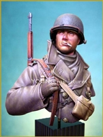 YM1812 - U.S. Soldier Ardennes, 1/9 scale resin bust