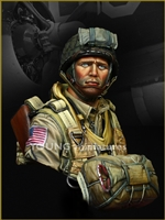 YM1824 - US Paratrooper 82nd Airborne Normandy 1944, 1/9 scale resin bust