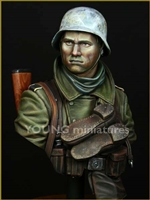 YM1825 - German Infantry Russian Front WWII, resin 1/9 scale bust
