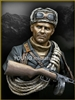 YM1827 - Soviet Mountaineer Officer 1942 WWII, resin 1/9 scale bust