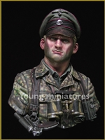 German Waffen SS  Officer 1944, 1/10 Scale Resin Bust