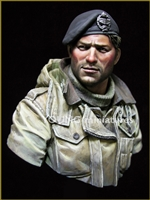 YM1835 - British Tank Crew, resin 1/9 scale bust