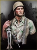 YM1844 - German Fallschirmjager Monte Cassino 1944, resin 1/9 scale bust