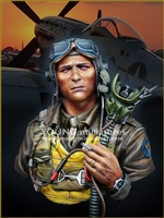 YM1856 - USAAF Fighter Pilot 1944, resin 1/9 scale bust