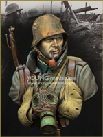 YM1857 - German Stormtrooper WWI, resin 1/9 scale bust