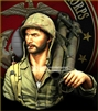 YM1880 - USMC Pacific WWII, resin 1/9 scale bust
