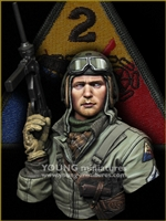 YM1881 - US Tank Crew WWII - HELL ON WHEELS, resin 1/9 scale bust