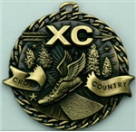 Cross Country Medal Gold 2 inches
