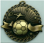 Soccer Medal Gold 2 inches