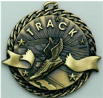 Track Medal Gold 2 inches