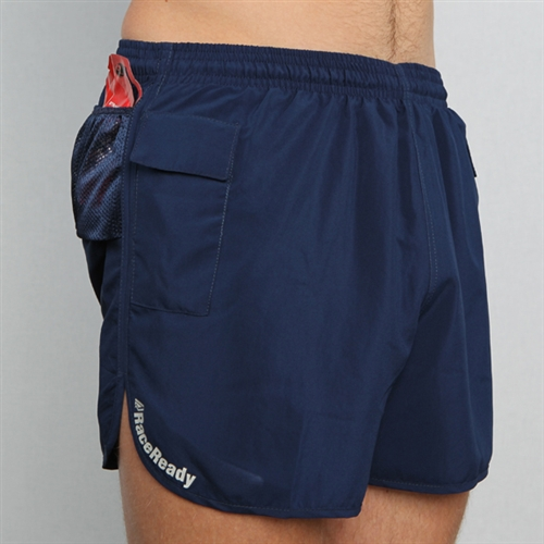 newest 623da cd82f RaceReady Active Mens V-Notch Running Shorts with Pockets