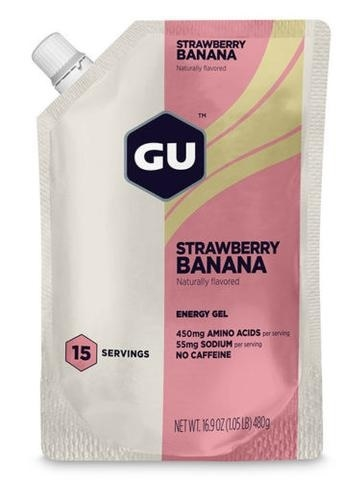 GU STRAWBERRY BANANA Energy Gel 15 Servings