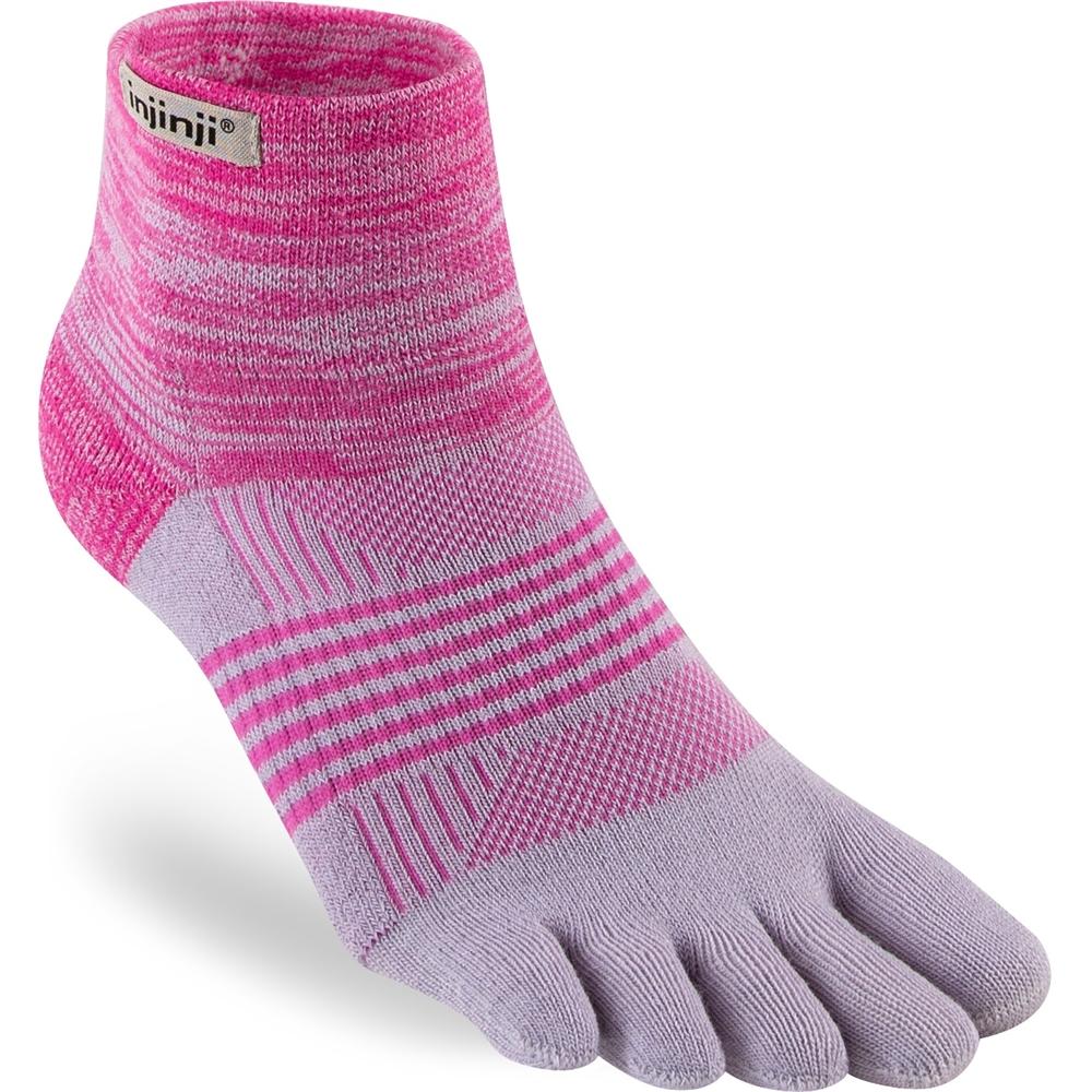 Injinji Socks Trail Midweight Mini-Crew Womens Running Toe Socks Ember