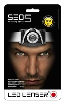 LED Lenser SEO5 Running Headlamp/Head Torch - Black