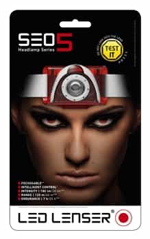 LED Lenser SEO5 Running Headlamp/Head Torch - Red