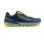 Mens Altra Running TIMP 2 zero-drop trail running shoes - Moroccan Blue / Yellow