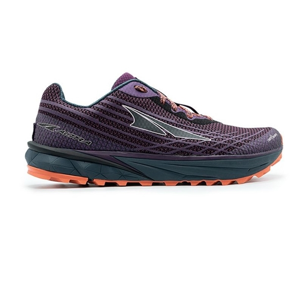 Womens Altra Running TIMP 2 zero-drop trail running shoes - Plum / Coral