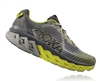 Mens Hoka ARAHI Road Running Shoes - Cool Gray / Acid / Black