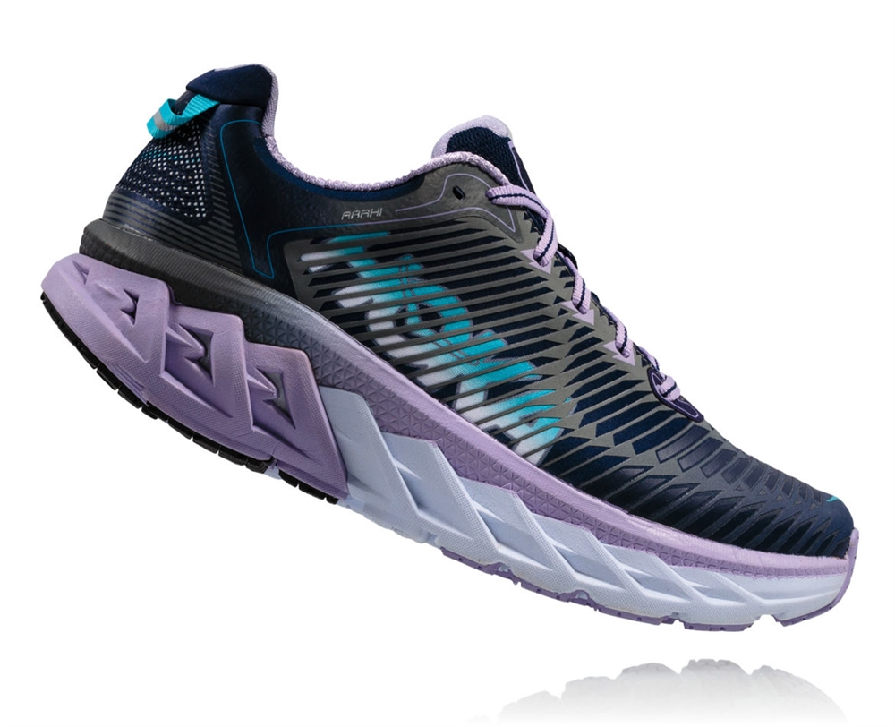ea9726d4aff7 Womens Hoka ARAHI WIDE Road Running Shoes - Medieval Blue   Lavender