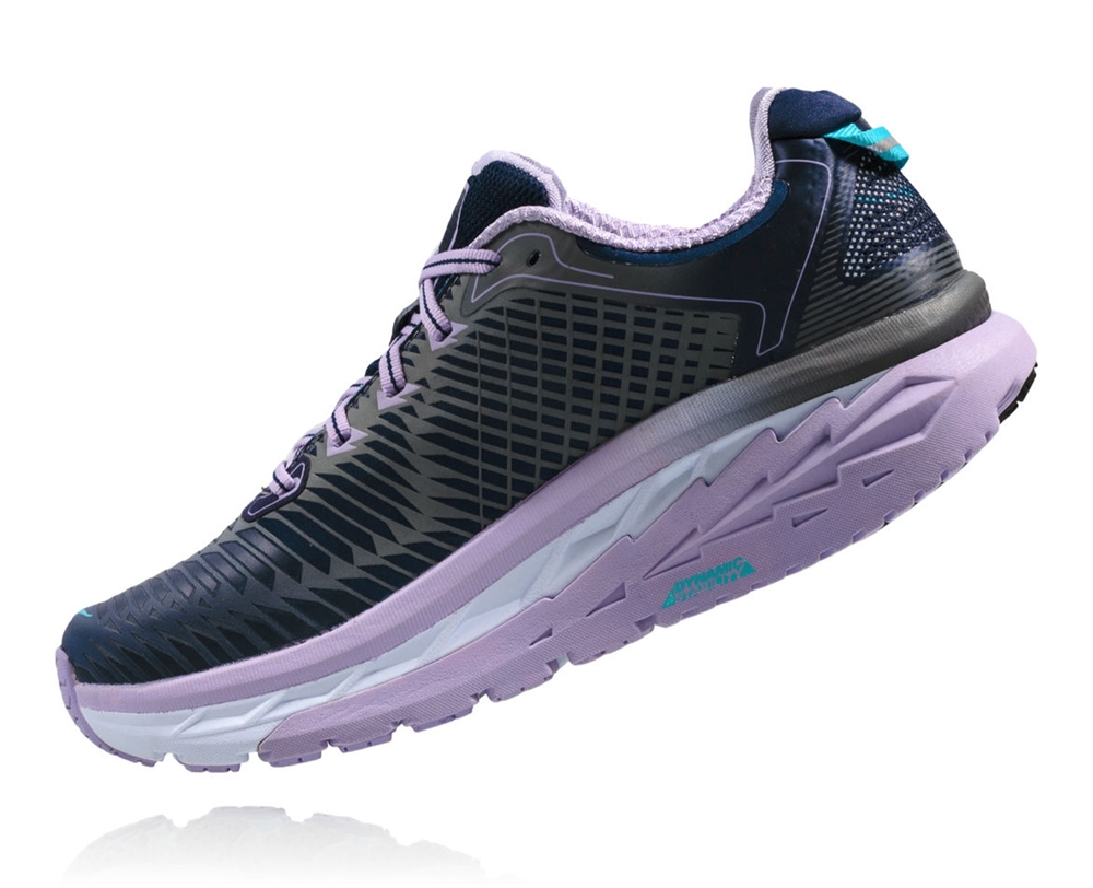 1d3e8b500066 Women s Hoka ARAHI WIDE Road Running Shoes - Medieval Blue ...