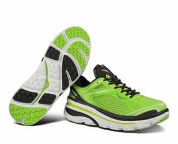Mens Hoka BONDI 3 Road Running Shoes - Green Glow / Black / White