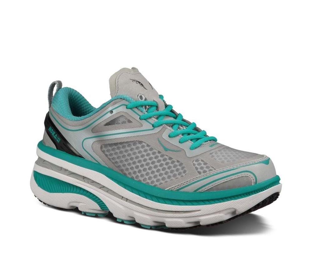Men's Hoka Shoes: BONDI 3 - Baltic / Hi Rise / White