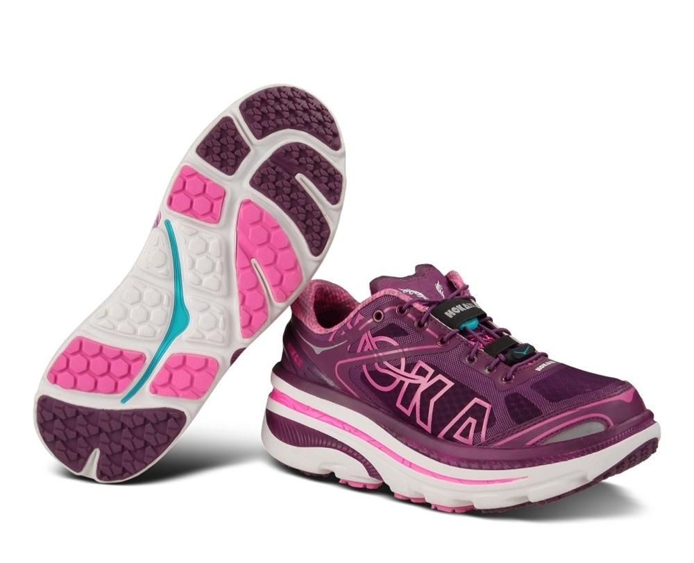 d9640f5cbb0d Women s Hoka BONDI 3 Shoes - Plum   White   Fushia